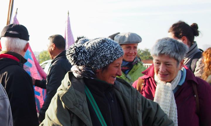 marche 2015 chantal et leila