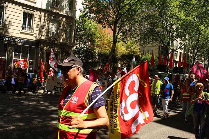 La CGT était en tête dans le cortège des syndicats