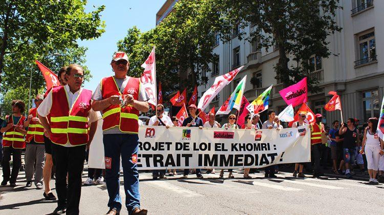 L'intersyndicale du Rhône (CGT, FSU, FO, FSV, CNT et CNT SO) a appelé à manifester ce jeudi 23 juin (2)