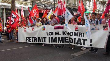 """Cortège CGT lors de la manifestation du jeudi 16 septembre contre la """"loi travail"""". Photo Alban Elkaïm"""