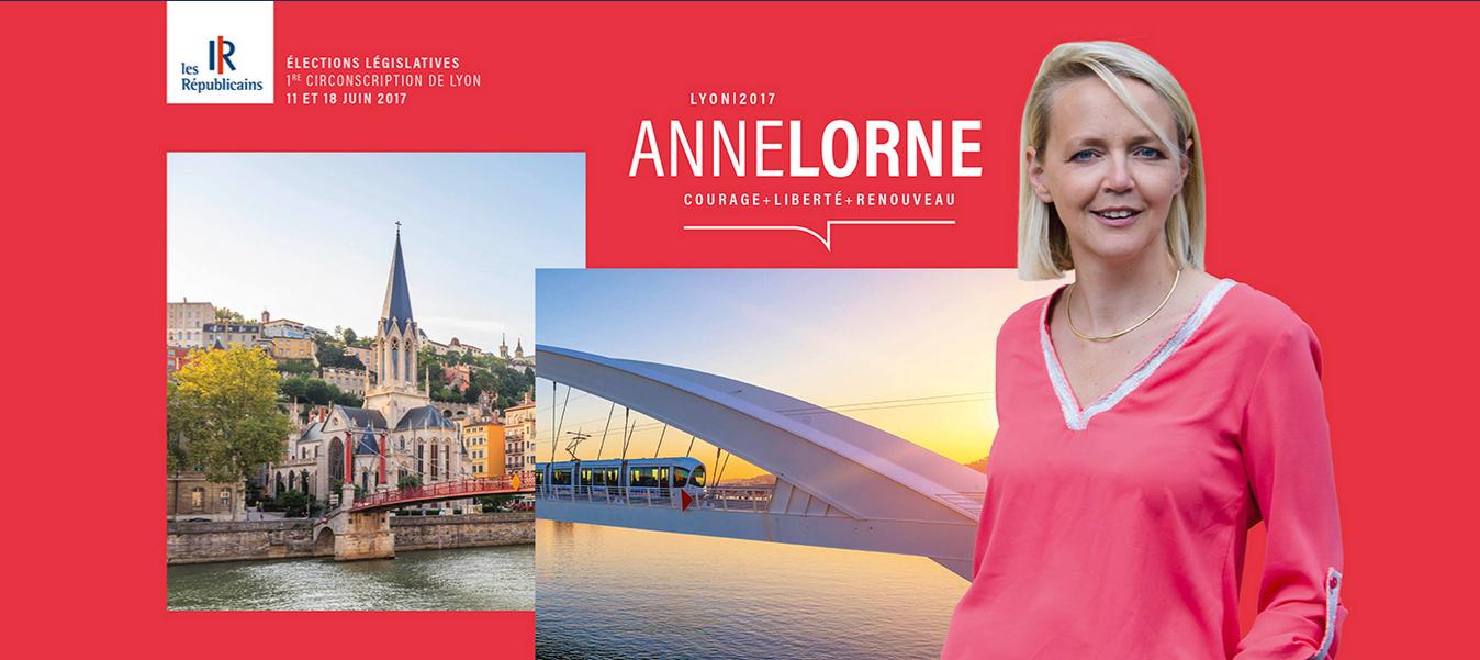 Anne Lorne, candidate LR à l'élection législative dans la première circonscription du Rône. Capture d'écran de Annelorne.com