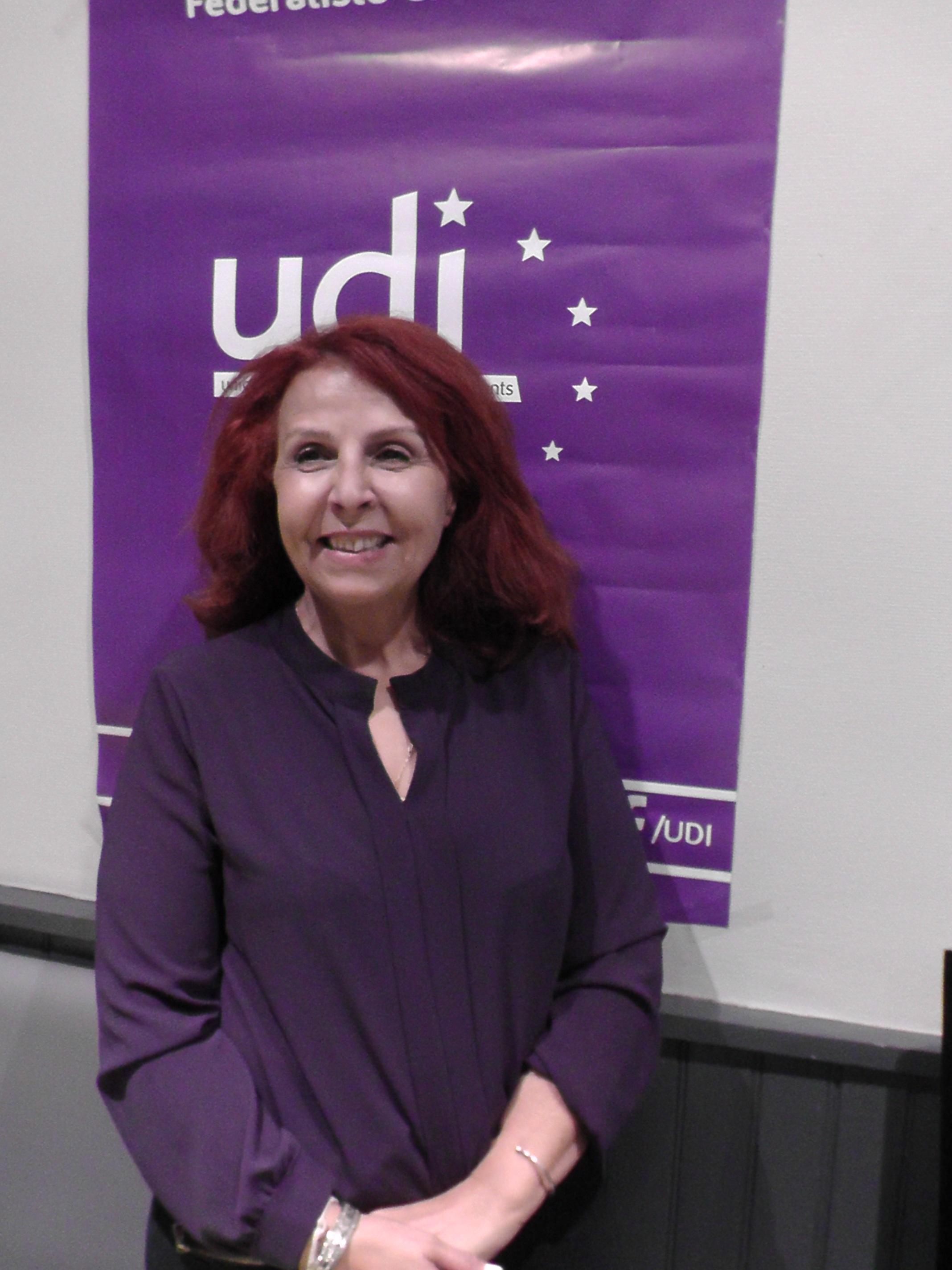 Djida Tazdaït , candidate UDI à l'élection législative dans la première circonscription du Rhône. Photo Alban Elkaïm
