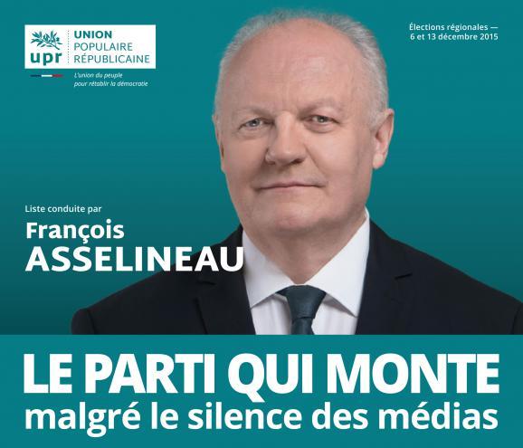 François Asselineau, le candidat soldat de la « Guerre contre l'ignorance ».