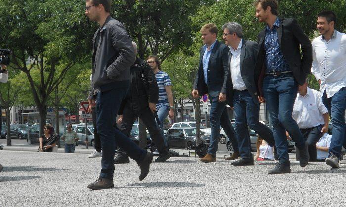 Mélenchon et quelques candidats FI pour les législatives dans le Rhône