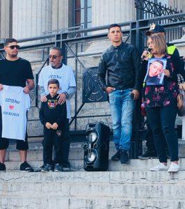 Intervention de la mère de Bilal Elabdani, mort après une nuit en prison le 10.08.2017. Crédits Marta Sobkow.