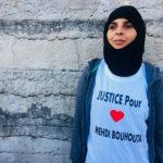 La soeur de Mehdi Bouhouta, organisatrice de la manifestation. Crédits Marta Sobkow