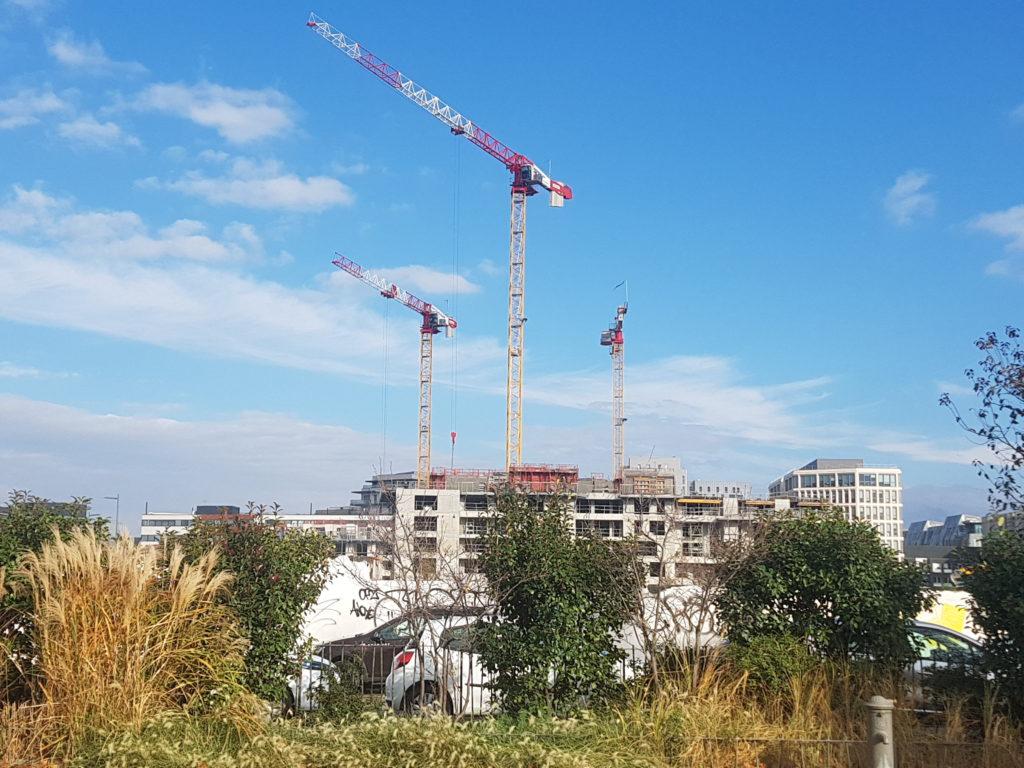 Phase 4 : exemple d'un quartier en construction, Les Girondins (Lyon 7ème). Crédit Zahra Blal / LyonBondyBlog.