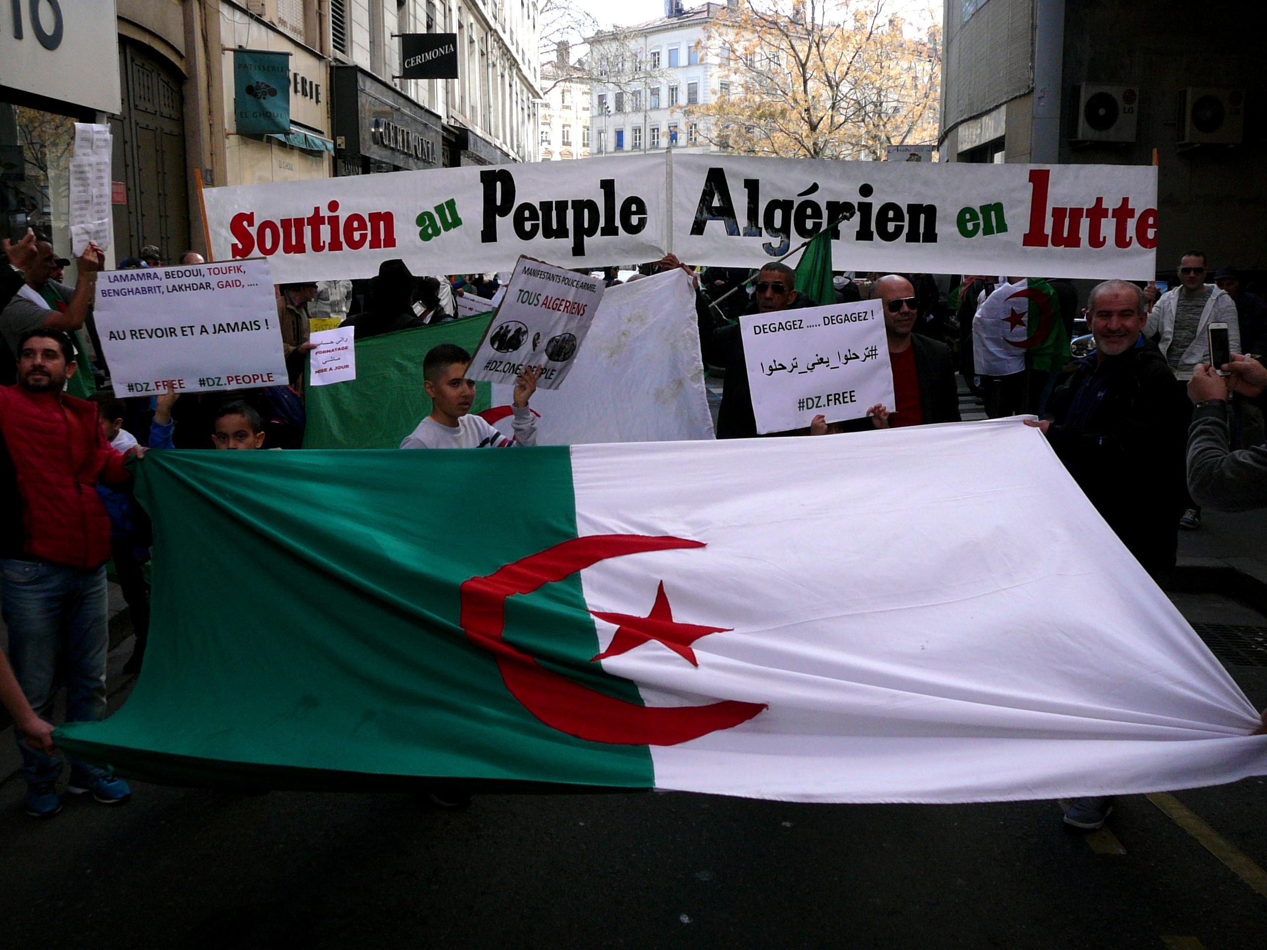 Nouvelle manifestation en soutien au peuple algérien à Lyon
