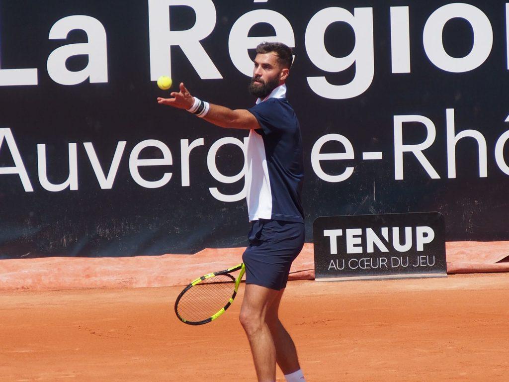 Pour la première fois de sa carrière Benoît Paire gagne un match la semaine précédant Roland-Garros. Crédit photo : Hugo Dervissoglou / Lyon Bondy Blog