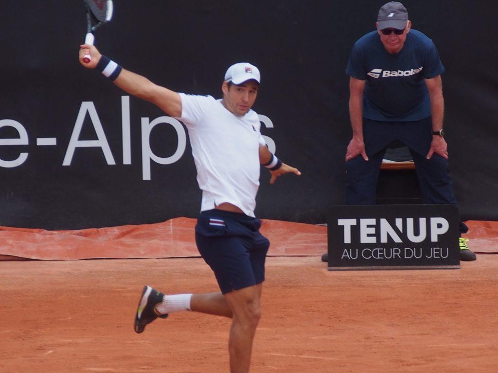 Finaliste à Monte-Carlo, Dusan Lajovic sera tête de série à Roland-Garros. Crédit photo : Hugo Dervissoglou / Lyon Bondy Blog