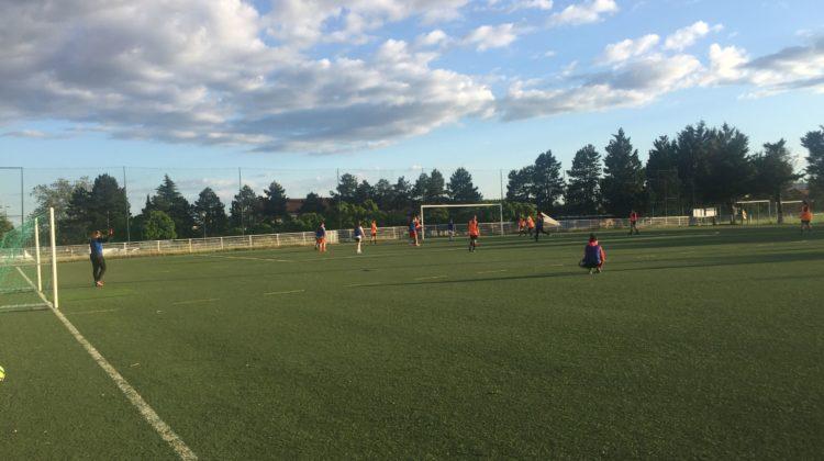 Un des derniers entraînements de la saison à Caluire. Crédit photo : Lyon Bondy Blog / Hugo Dervissoglou