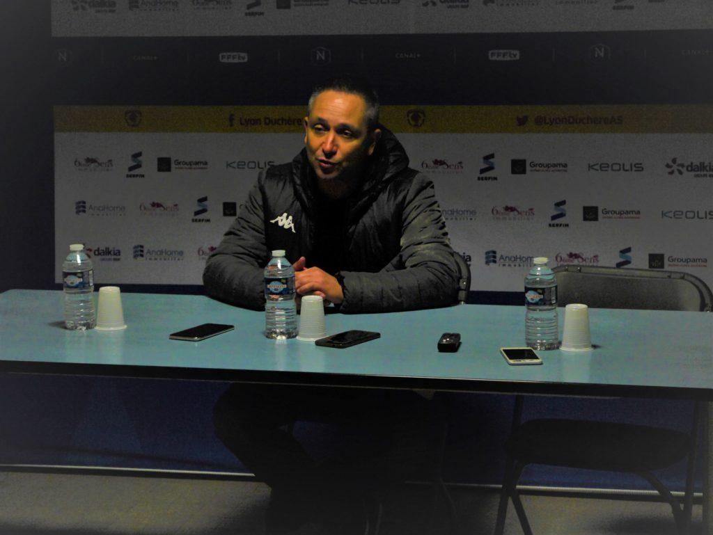 Emmanuel Seara da Costa a vanté l'état d'esprit de son groupe. Crédit photo /Hugo Dervissoglou / Lyon Bondy Blog