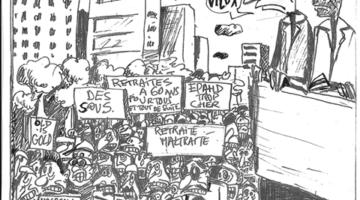 La réforme des retraites vue par JCL crédit : JCL / Lyon Bondy Blog