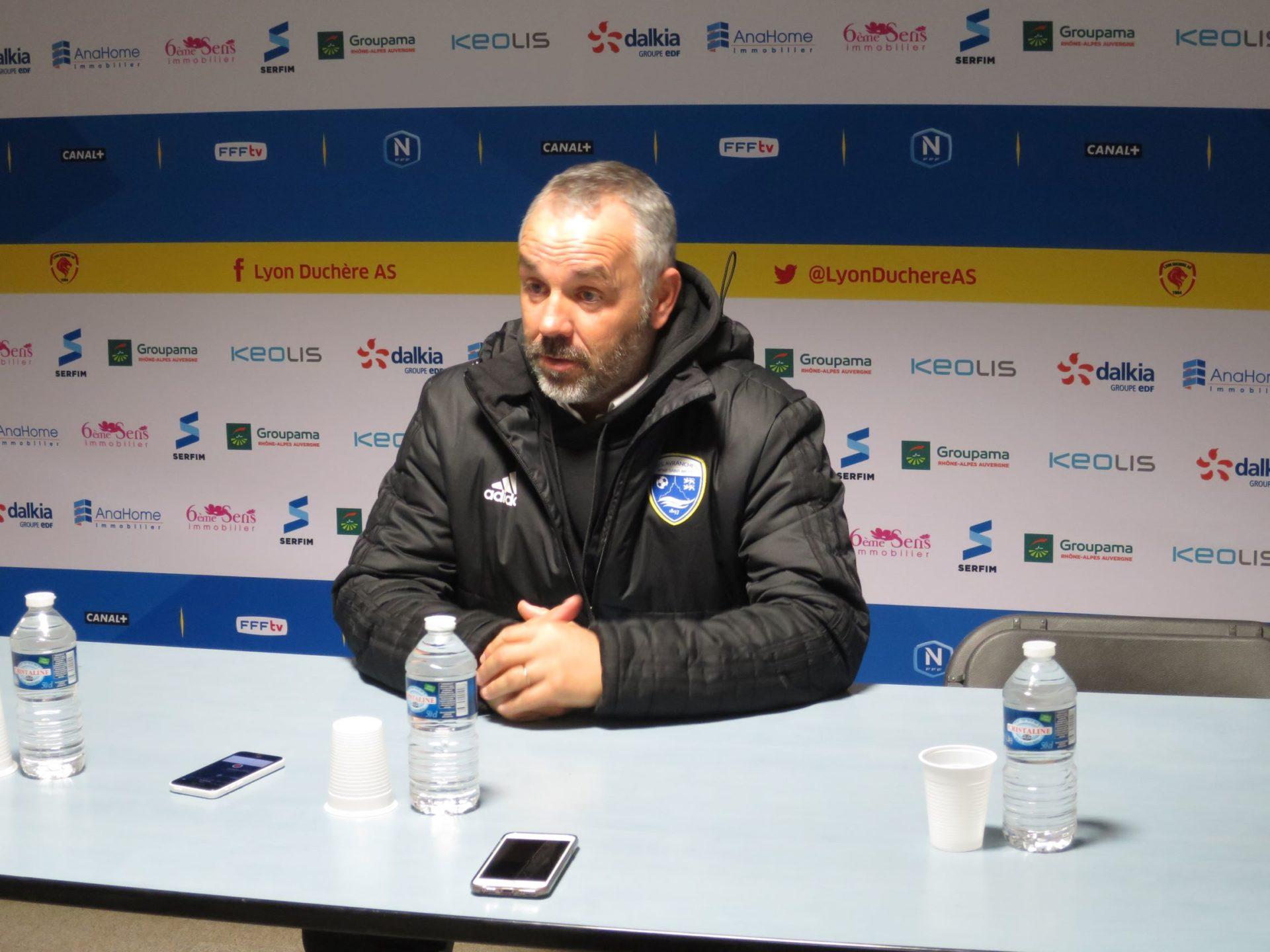 L'entraîneur d'Avranches a insisté sur l'aspect tactique de la préparation de ce match. Crédit photo : Hugo Dervissoglou ./ LBB