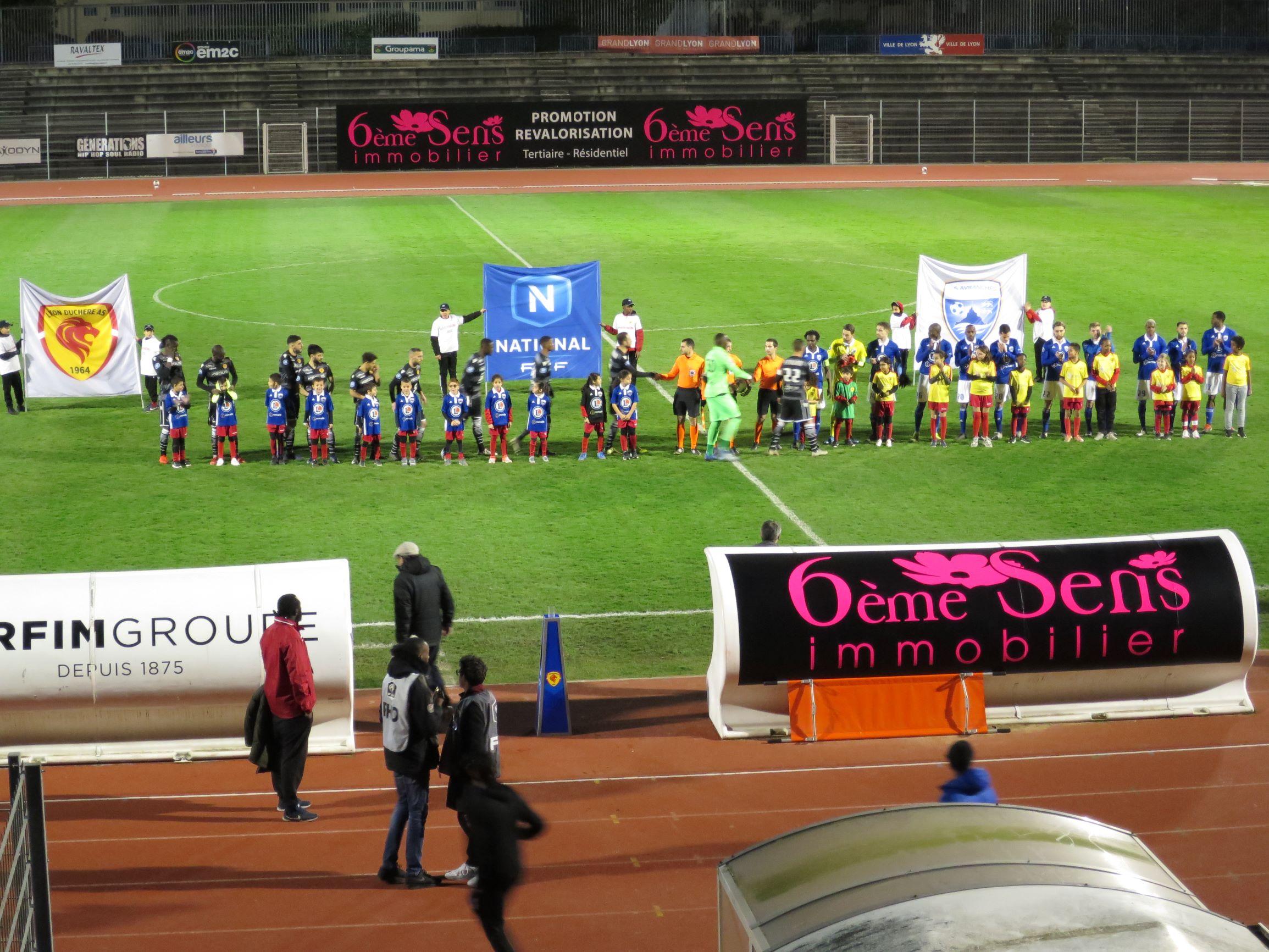 Lyon-Duchère A.S s'écroule contre Avranches