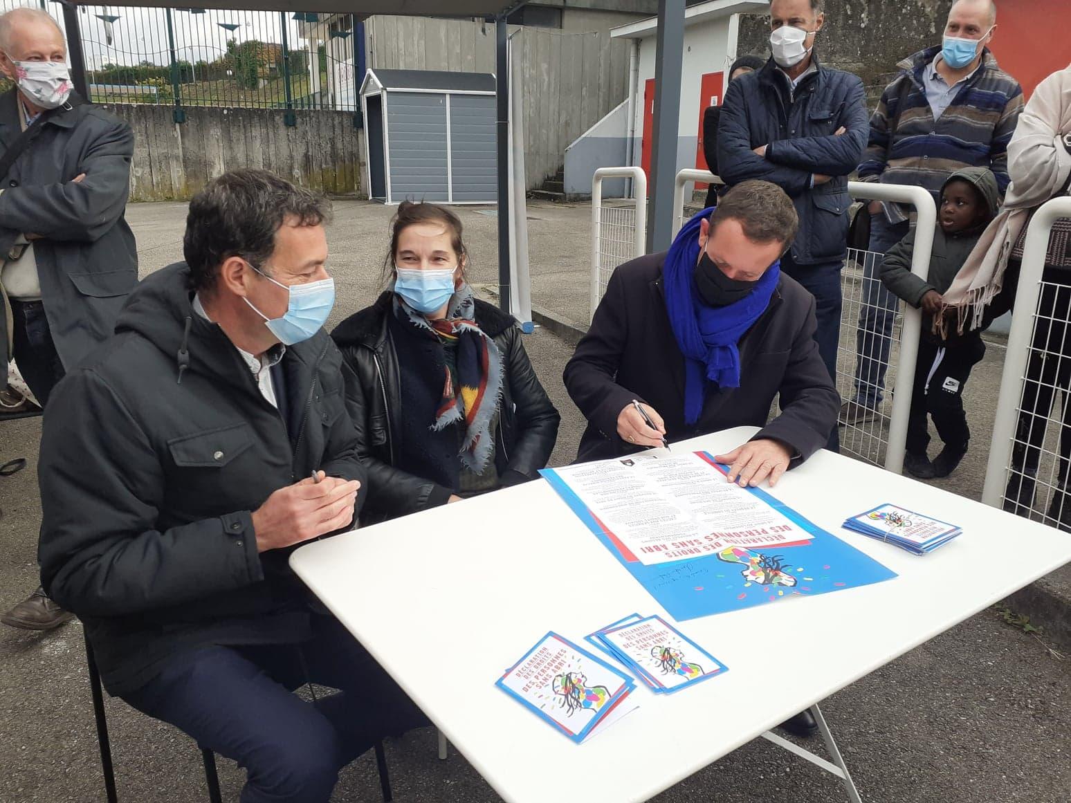 Villeurbanne, première ville de France à signer la déclaration des Droits des personnes sans-abris.