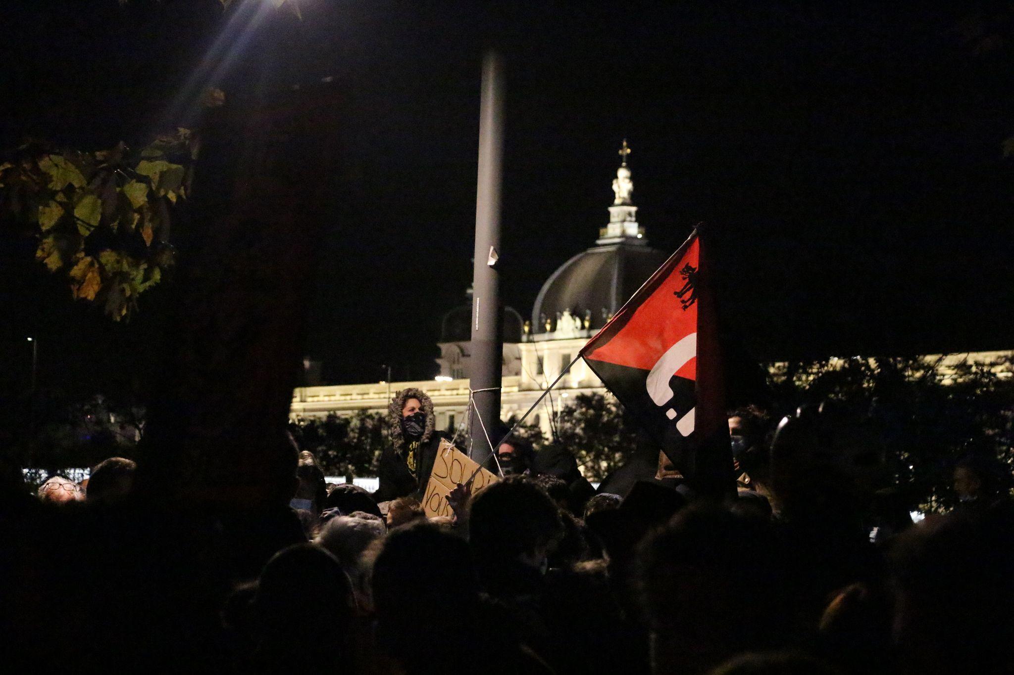 Rassemblement à Lyon contre la proposition de loi relative à la sécurité globale