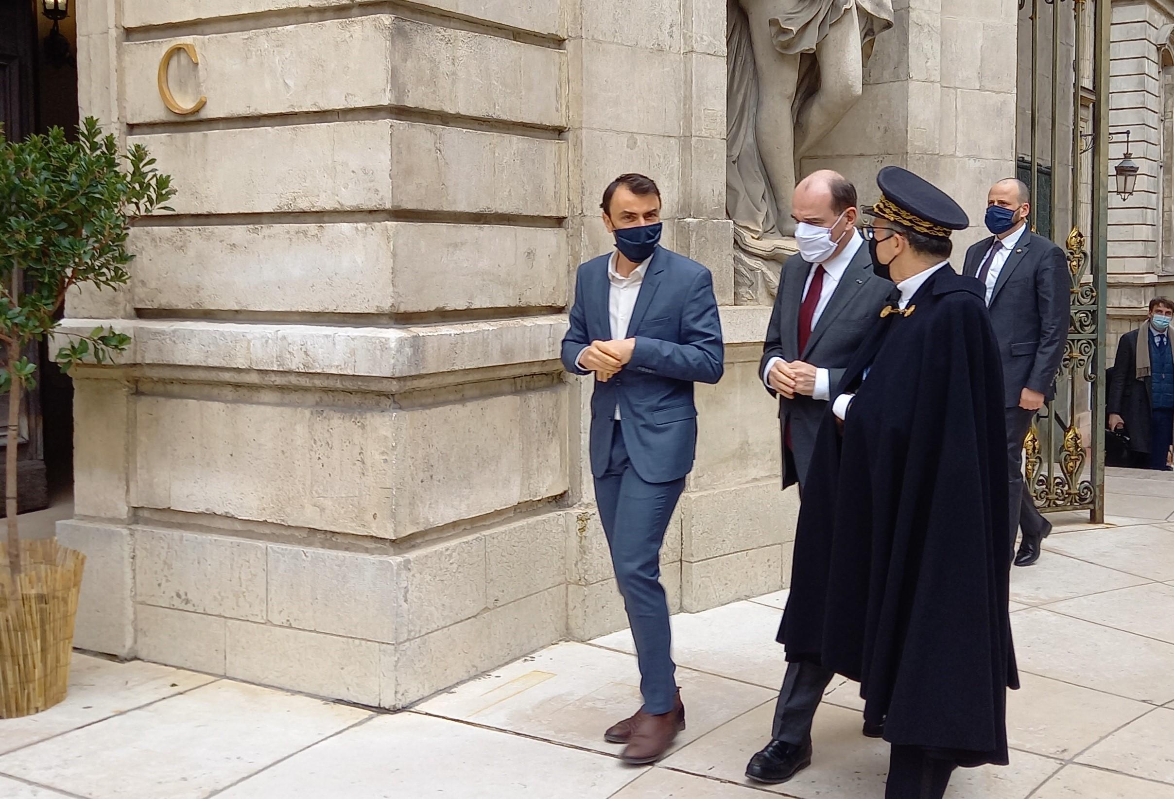 Jean Castex et Jacqueline Gourault en visite à Lyon pour renouer avec les élus locaux