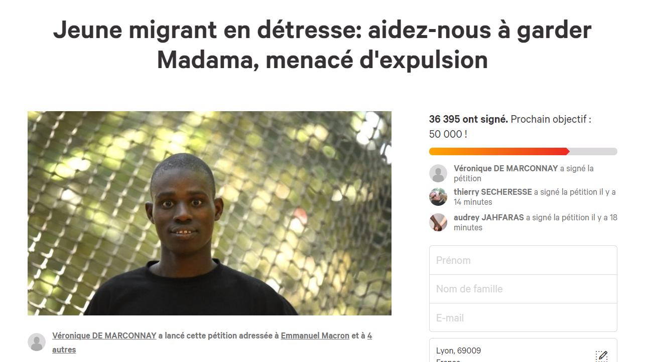 Le jeune Madama Diawara maintenu au CRA