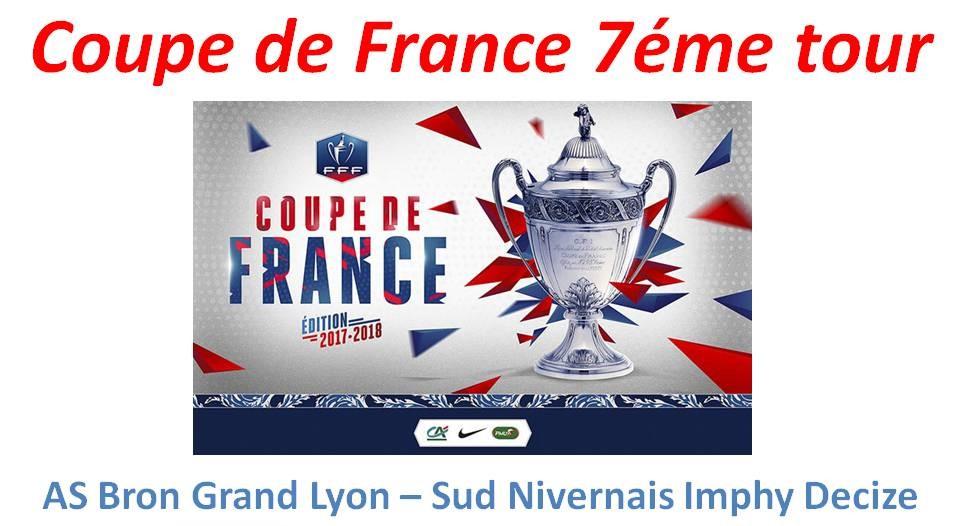 7ème tour de la Coupe de France – l'AS Bron Grand Lyon prend le bouillon