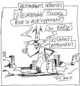 Le projet des restaurants collectifs vus par le dessinateur JCL
