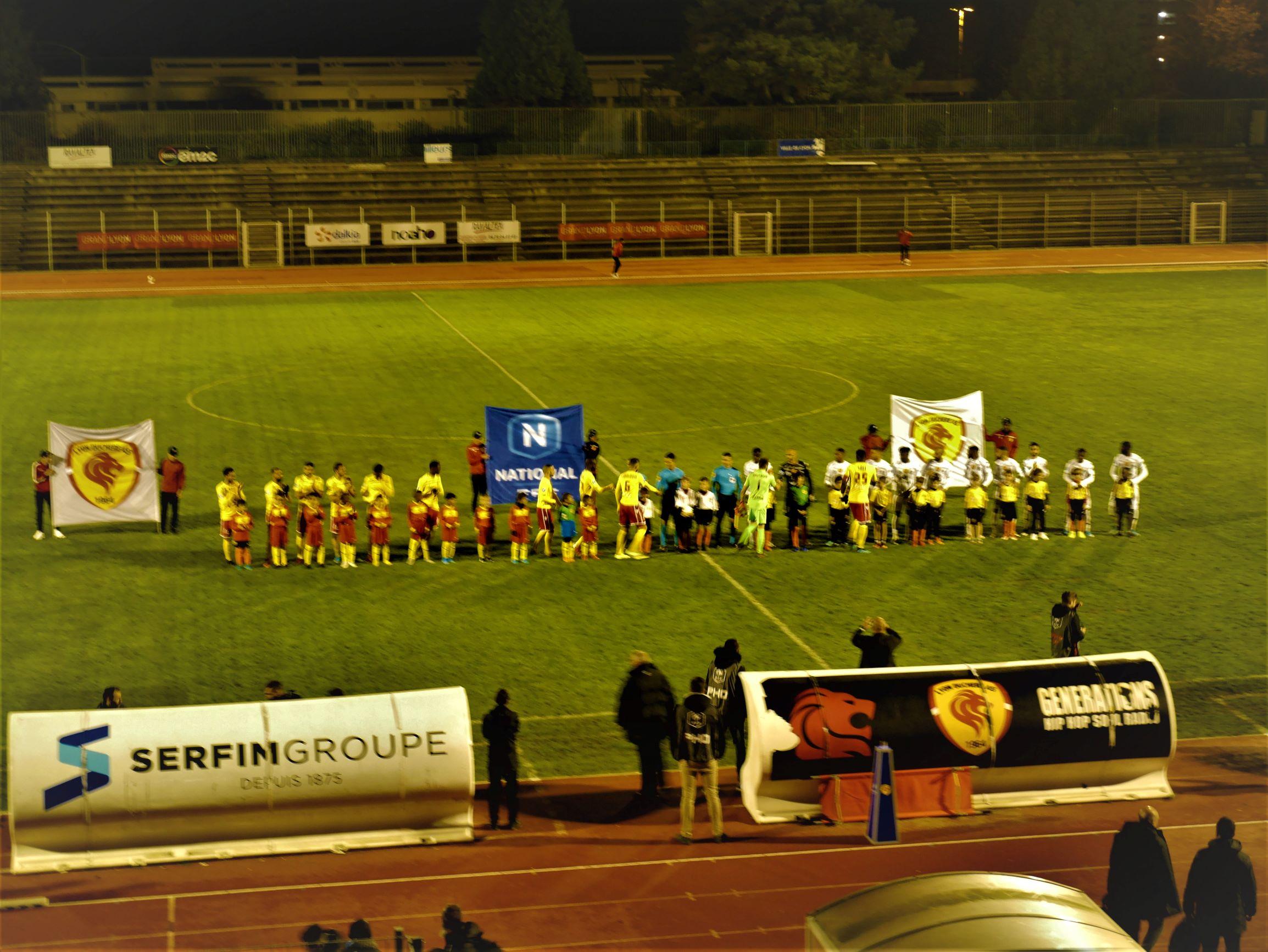 Lyon-Duchère n'a joué qu'un quart d'heure