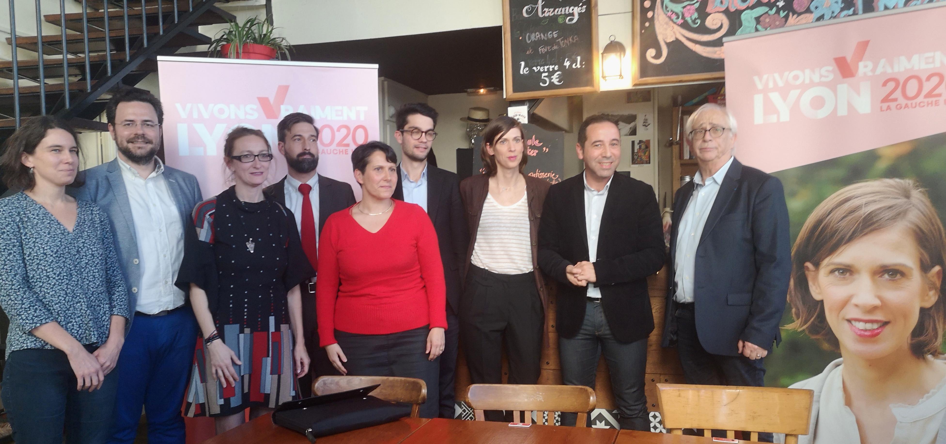 Municipales 2020 : La liste de la gauche unie « Vivons vraiment Lyon » présente ses candidats
