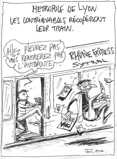 Rhônexpress : la résiliation du contrat par le dessinateur JCL