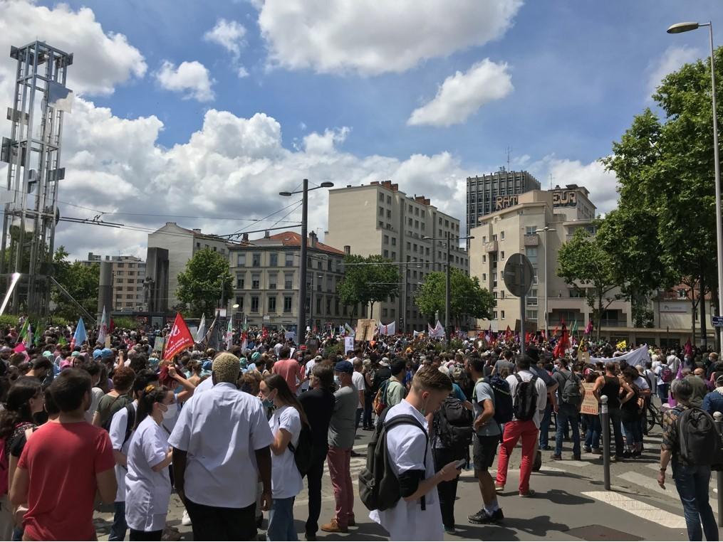 Manifestation à l'hôpital Edouard Herriot : Un ras-le-bol collectif