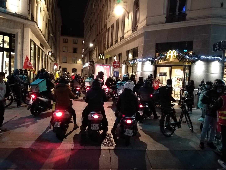Lyon : la grève des livreurs se poursuit