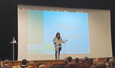 Anne Hidalgo lors de son discours de clôture.
