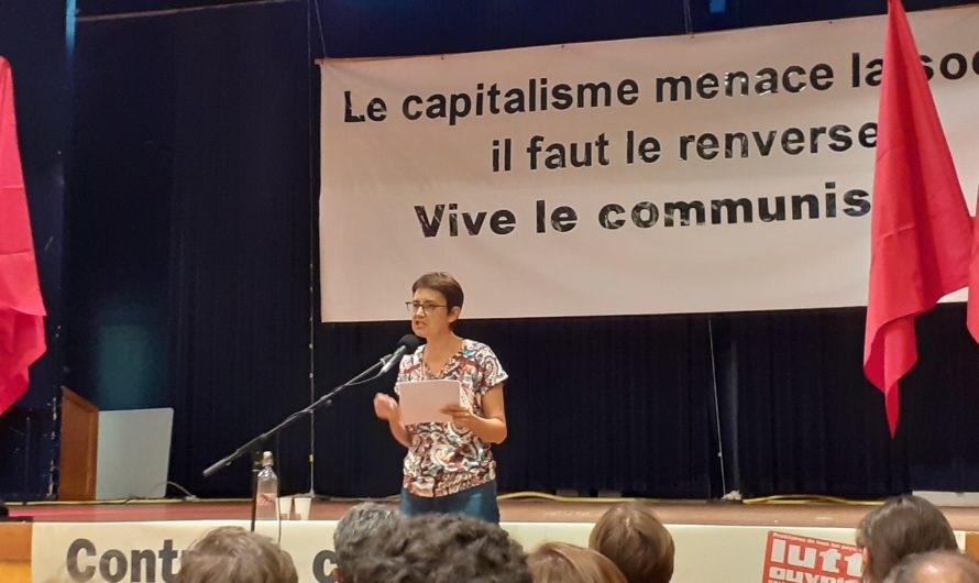 Nathalie Arthaud lance sa campagne à Saint-Fons